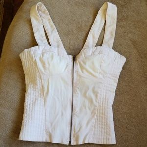 DIVIDED pale pink corset style tank top